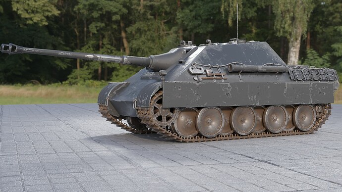 2_Weathered Jagdpanther (Left Front)