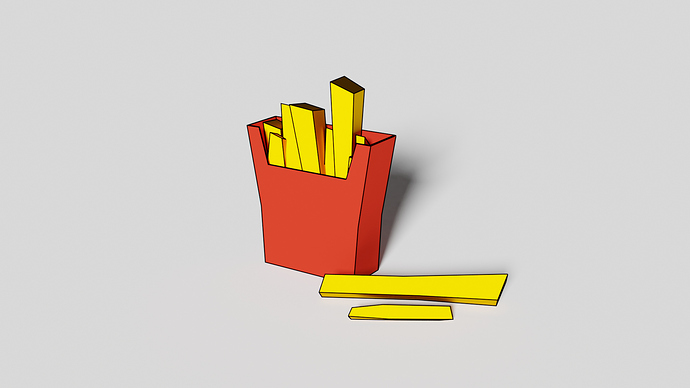 Low Poly Fries