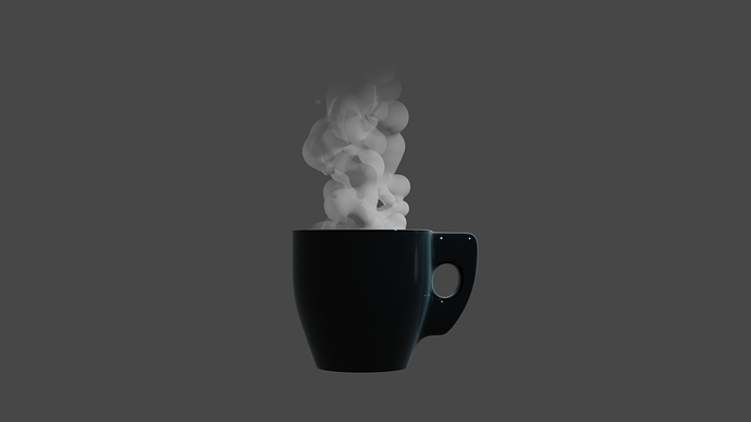 cartoon steaming cup test