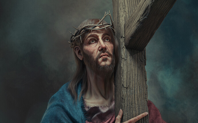 Christ carrying The cross_Wallpaper