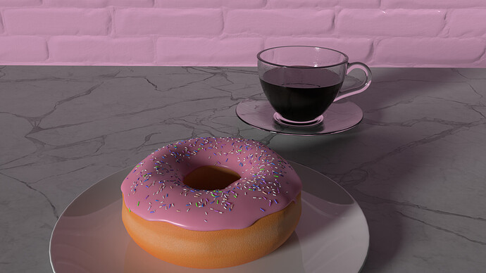 Donut and Coffee Wide