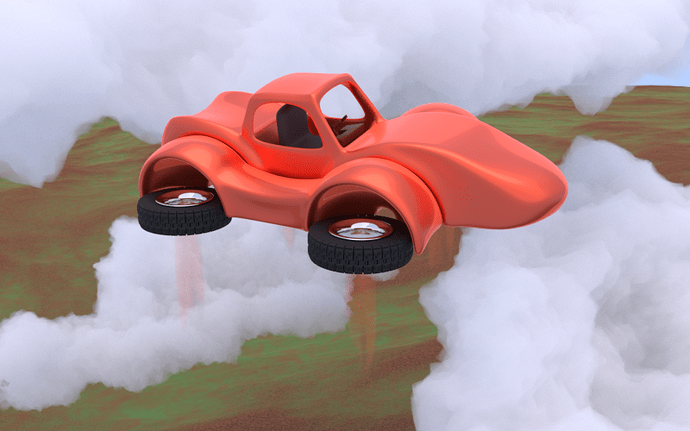Little Red Hover Car