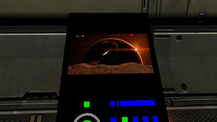 alien game arcade machine