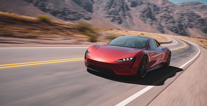 Tesla roadster - Luxcore - PDRA-3