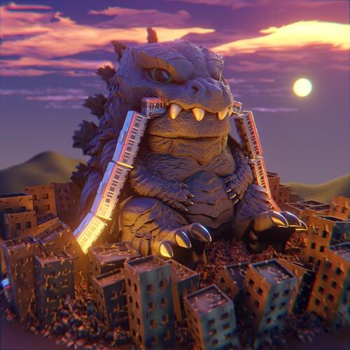 Godzilla_evening