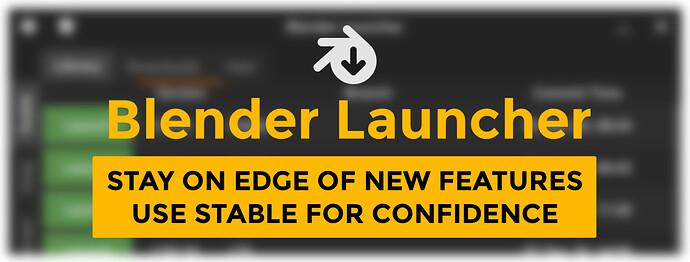 Blender Launcher Cover