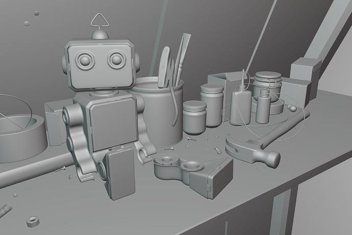 Toy-Robot-Matcap