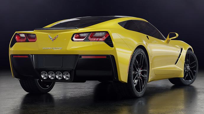 corvette_back_yellow
