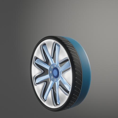 28 inch car wheel 2 (bkit) render