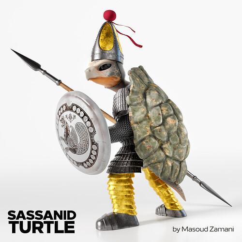 Sassanid turtle