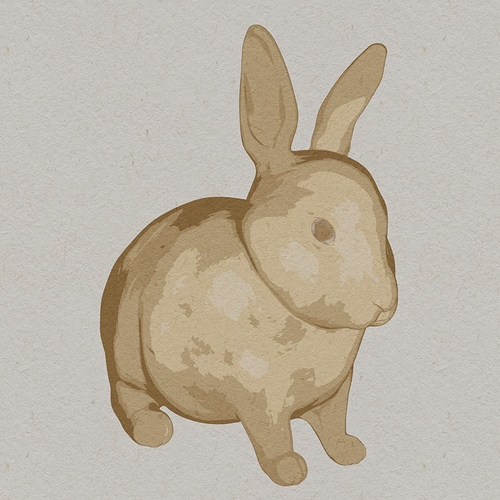 watercolor bunny 2