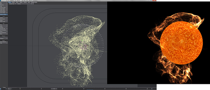 displaced geometry flares with hv sprites