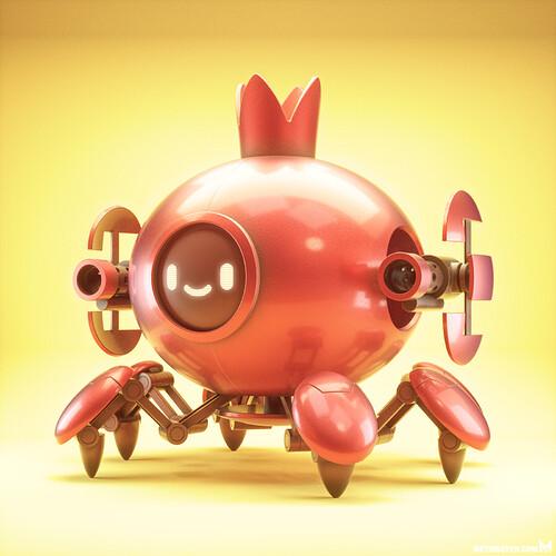 metin-seven_3d-print-modeler-toy-character-designer_cute-kawaii-crab-robot-tank