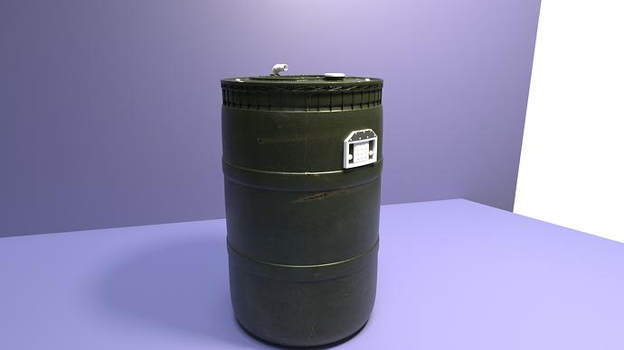ROLTD barrel 3rd render test