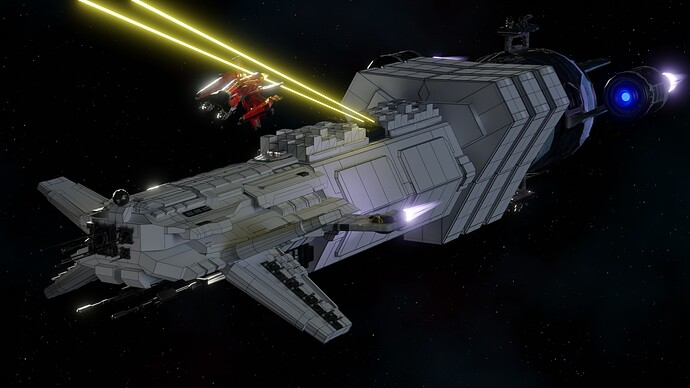 Big Ship Builder - Freighter vs Wing-X (wire)