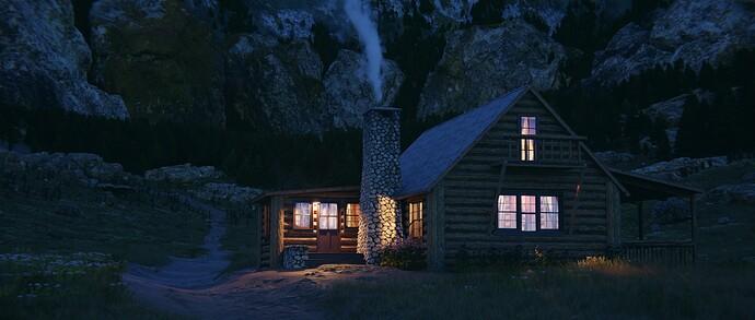 close to cabin