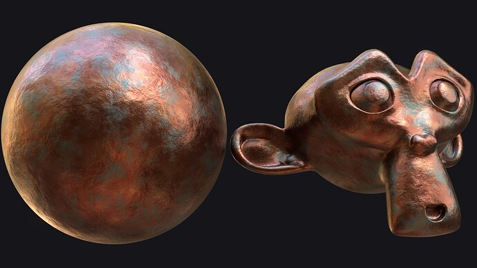 Procedural Rusty Copper Material 2