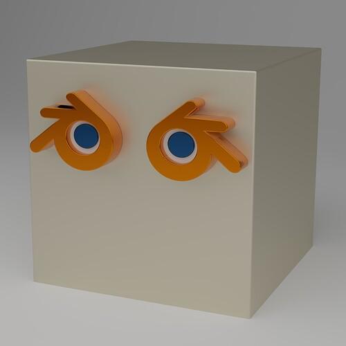 Blender Logo Cube square