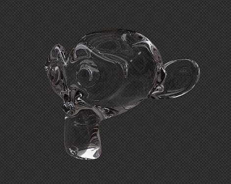 Correct glass render on alpha