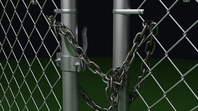 chain link fence 21
