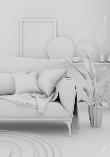 Living Room Corner Clay_Lamiaa Abdo