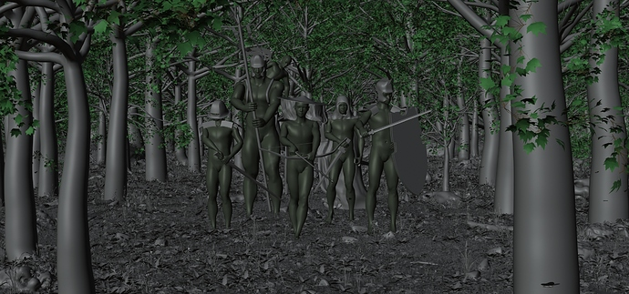 Wanderers in the forest(model)