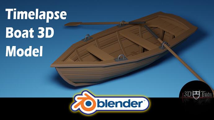 Blender 2.8 Timelapse Boat 3D Model