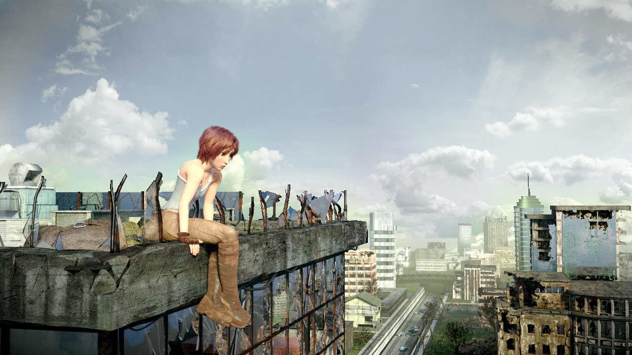 Sintel In A Post Apocalyptic City Works In Progress Blender Artists Community