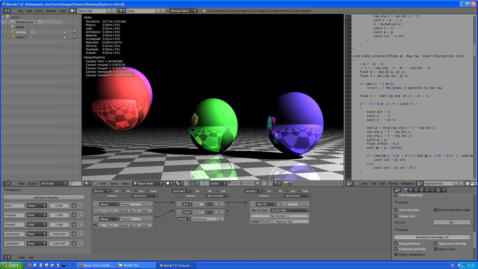 ray tracer software
