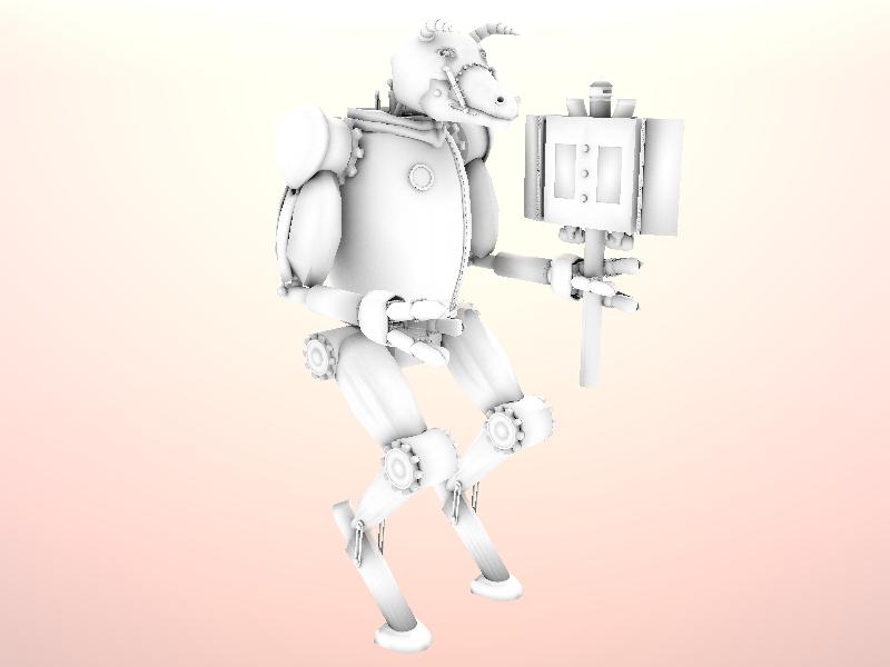 Steampunk Minotaur Works In Progress Blender Artists Community