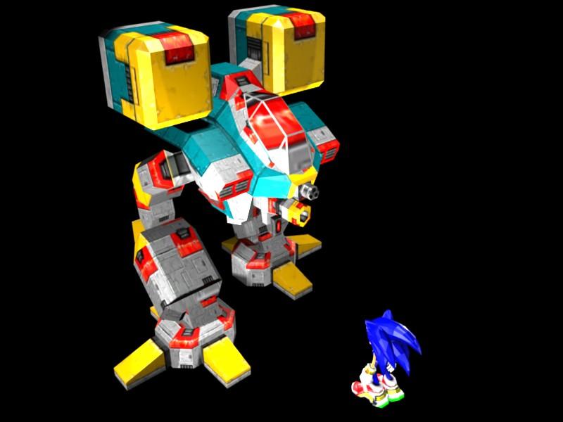 Sonic The Hedgehog V S Bigfoot Gun Robot Works In Progress Blender Artists Community