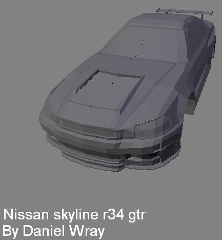 Skyline R34 Gtr Game Model With Little Tutorial Works In