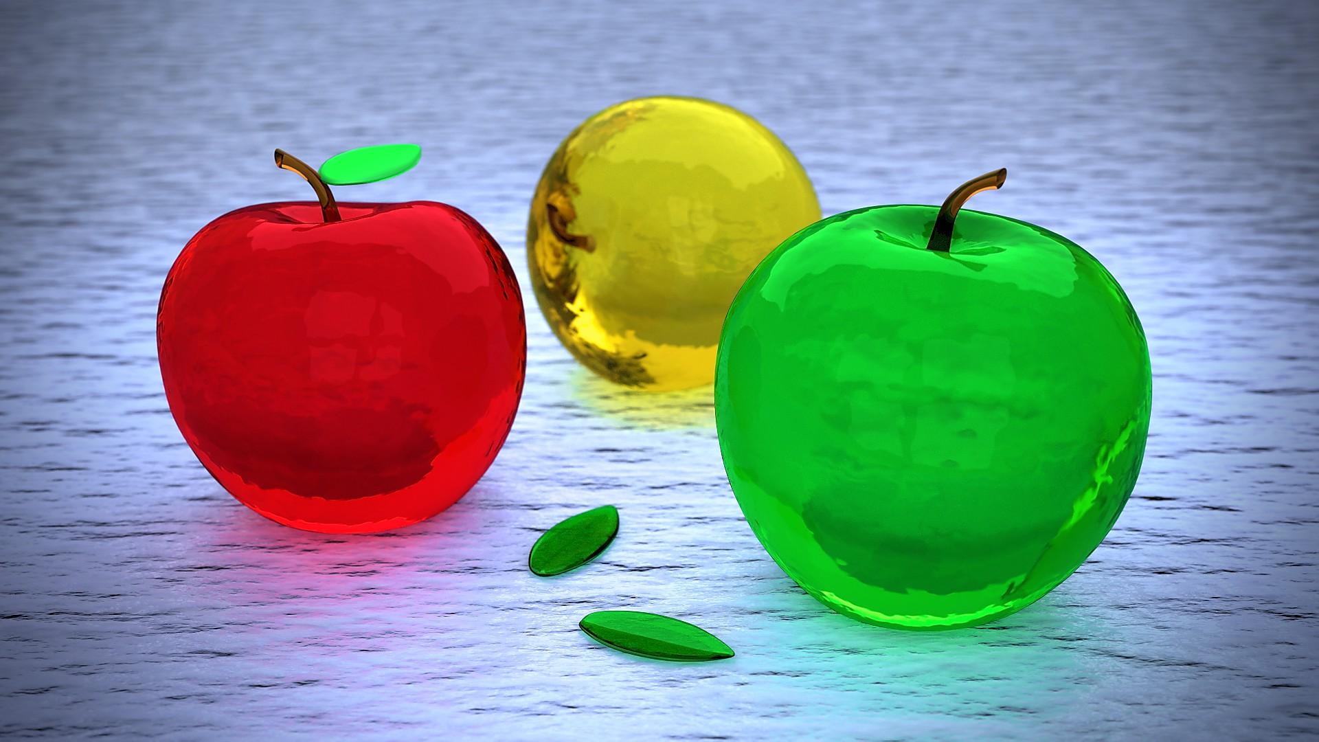 фотографии стеклянного яблока следует только уважать