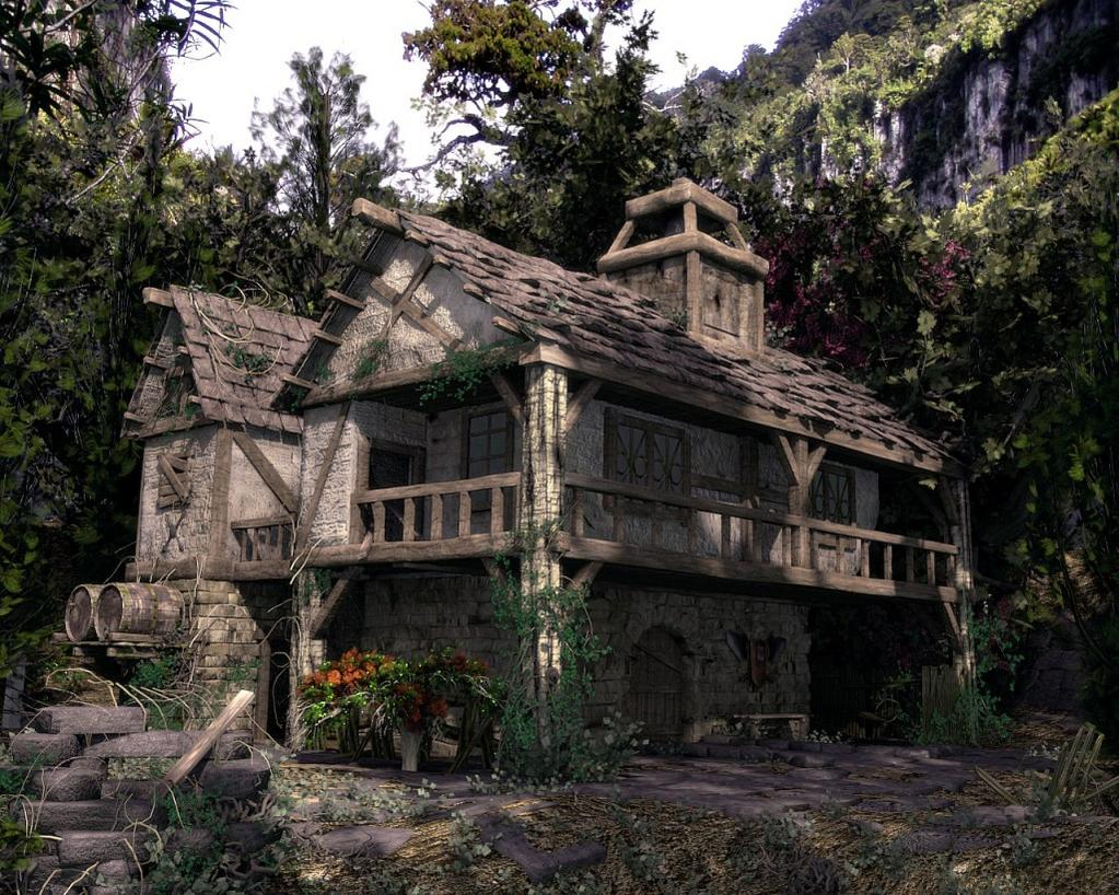 Medieval House - Finished Projects - Blender Artists Community