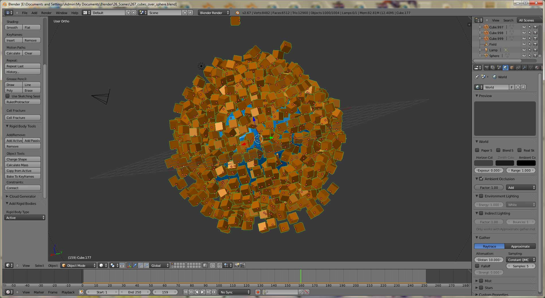 How to avoid particles cut / intersect other particles