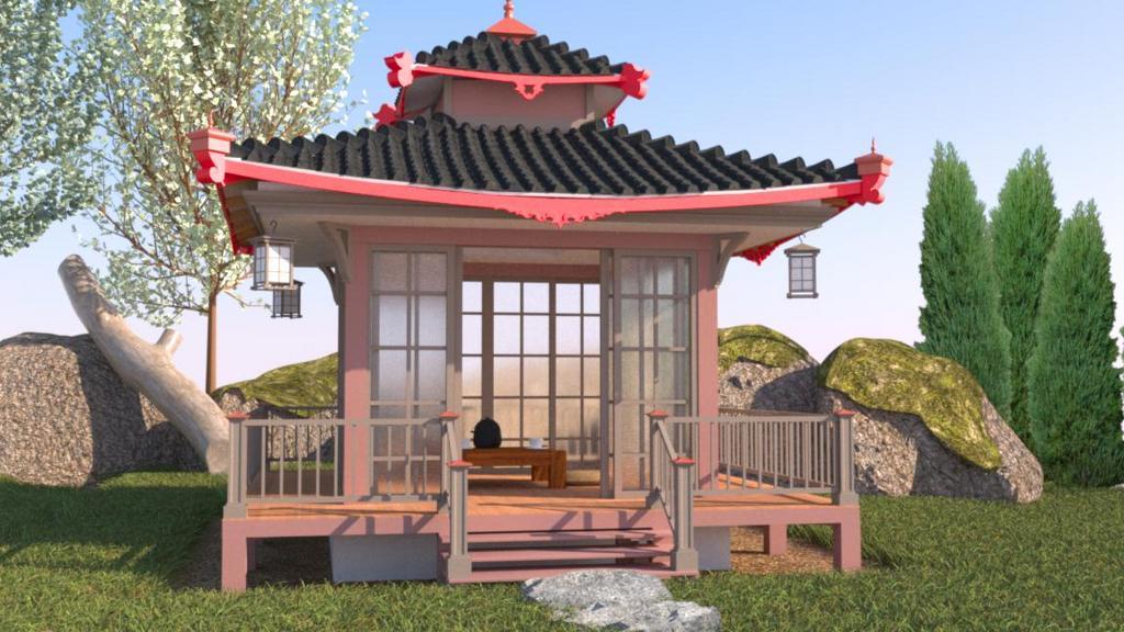 backyard pagoda finished projects blender artists community rh blenderartists org