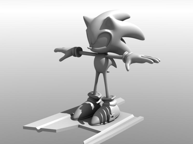 Omg Sonic The Hedgehog In Kingdom Hearts Works In Progress Blender Artists Community