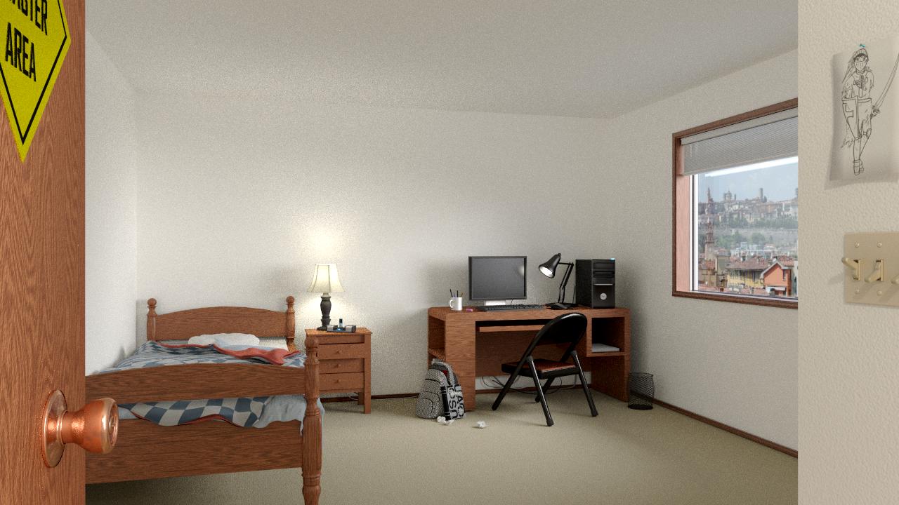 Arch Viz Messy Bedroom Works In Progress Blender Artists Community