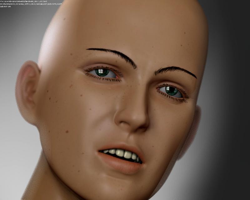 MakeHuman Female Portrait - Works in Progress - Blender