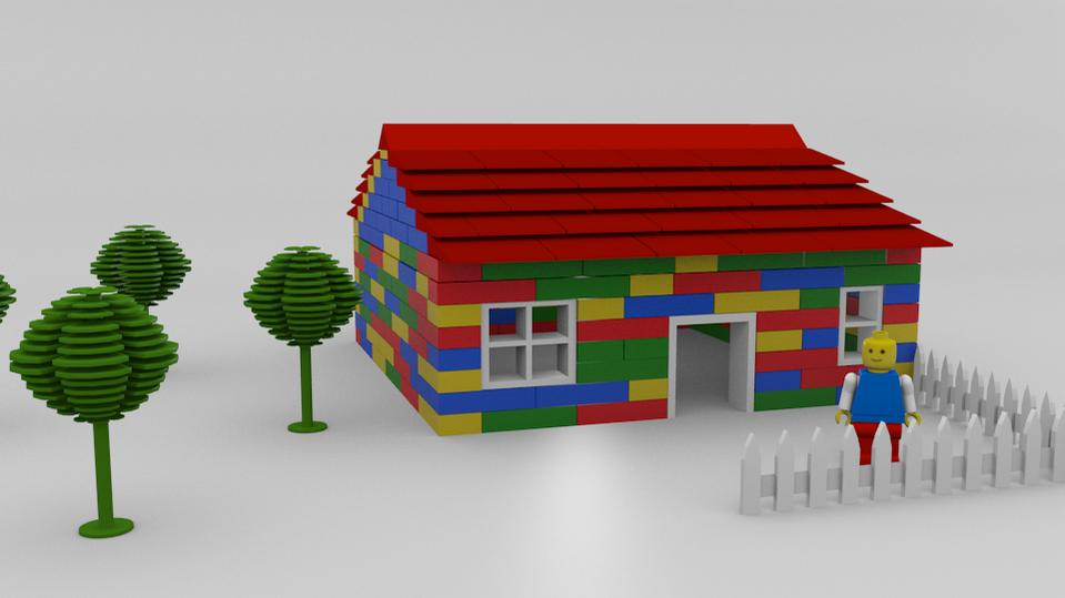Lego house finished projects blender artists community for Lego house original