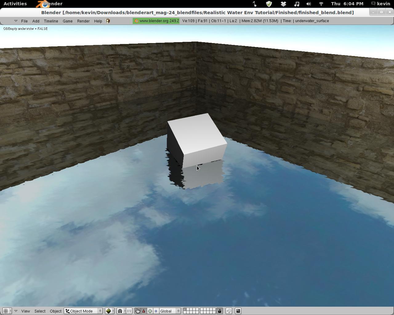 Game engine reflections in Blender 2 6? - Game Engine