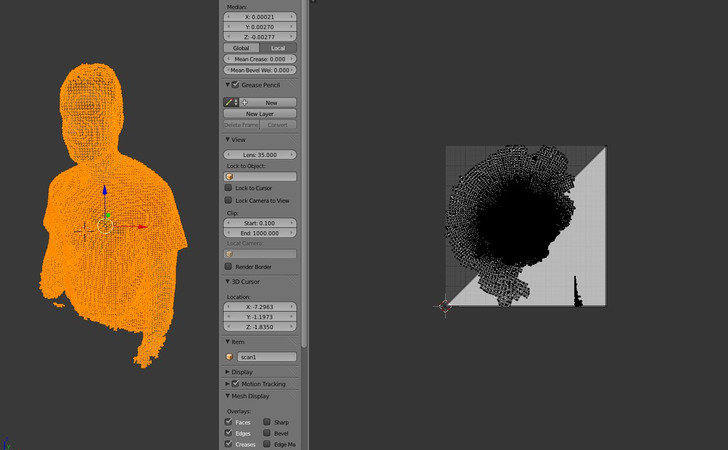 import ply -> export  obj | no color data saved - Materials