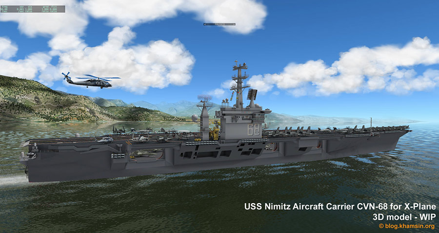 USS Nimitz Aircraft Carrier for flight Simulator X-Plane - Works in