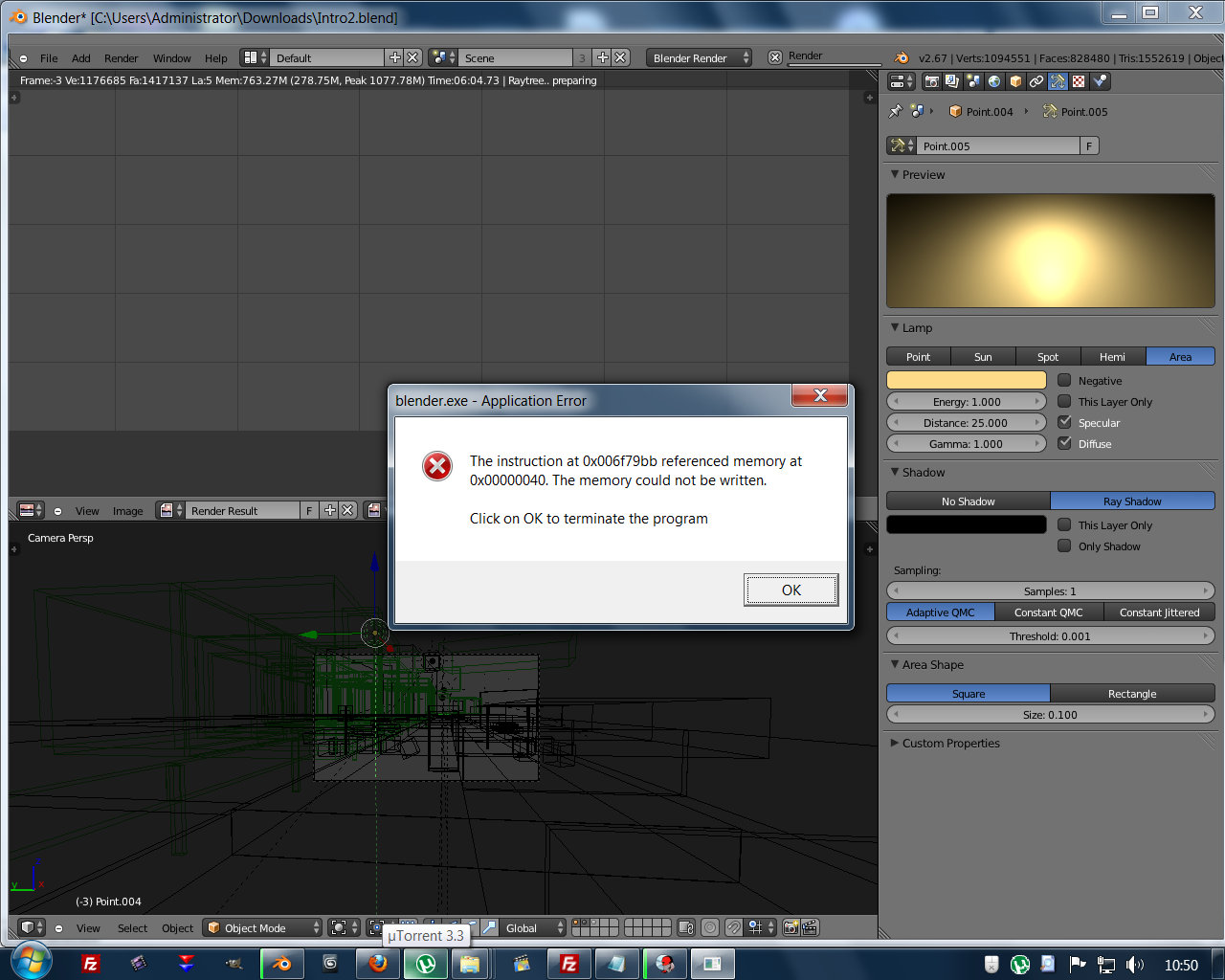 A tiny problem when rendering - Technical Support - Blender Artists