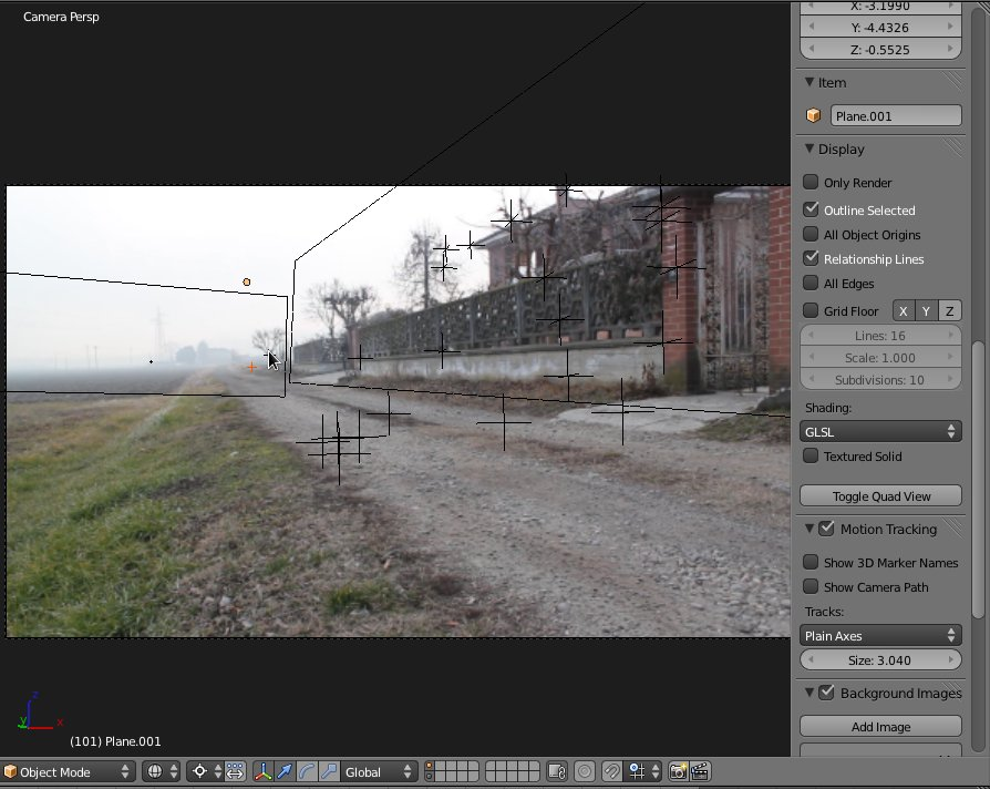 Mattepaint and camera tracking - Works in Progress - Blender