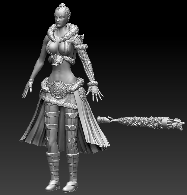 Arena Net Art Test: Female Norn - Works in Progress