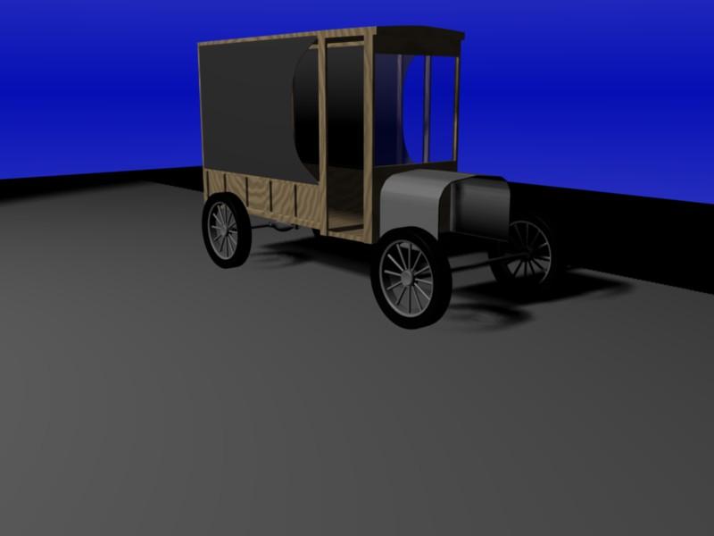 1922 Model T Delivery Truck - Works in Progress - Blender