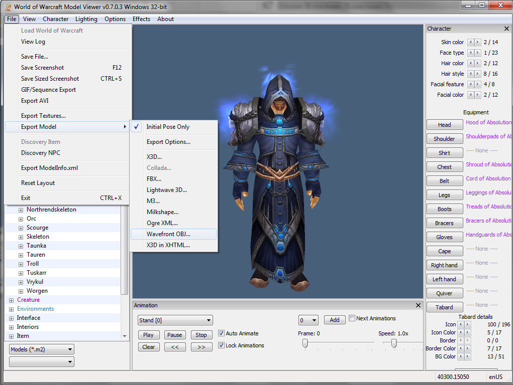 Quick tutorial: How to export World of Warcraft assets to