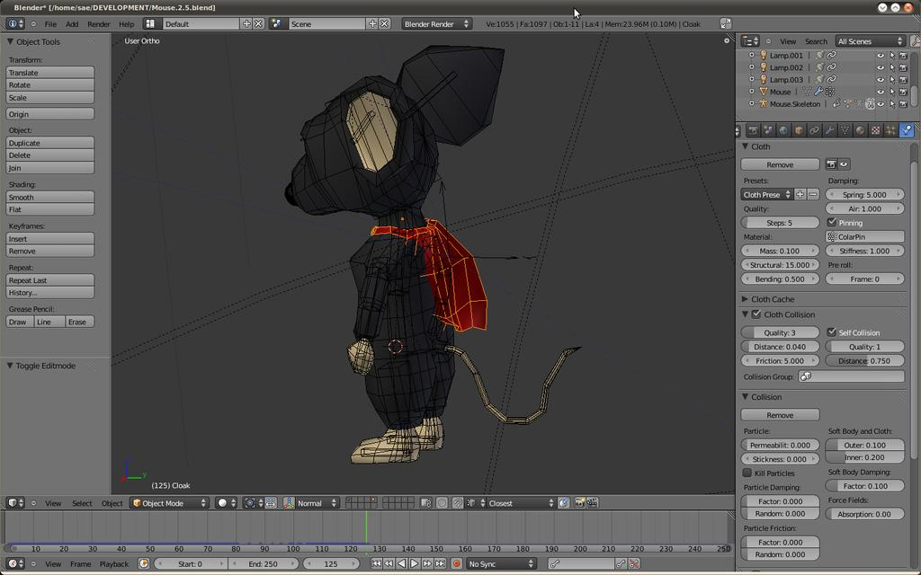 Cloth not colliding with base mesh - Animation and Rigging