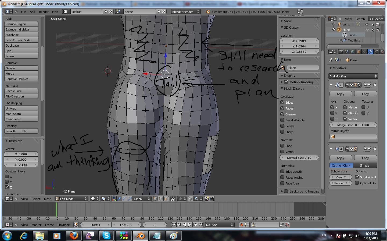 buttocks topology - Modeling - Blender Artists Community